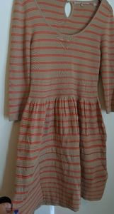 Anthropologie striped sweater dress